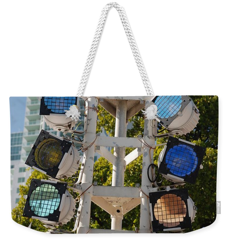 Lights Weekender Tote Bag featuring the photograph Lights by Rob Hans