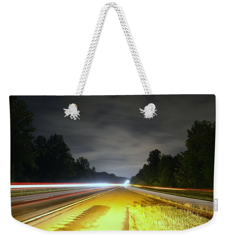 Landscape Weekender Tote Bag featuring the photograph Lightworks by Alex Grichenko