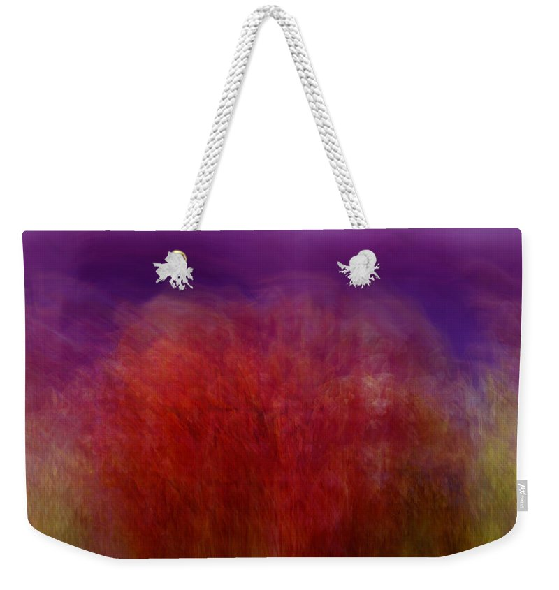 Abstract Art Weekender Tote Bag featuring the digital art Like A Dream by Linda Sannuti