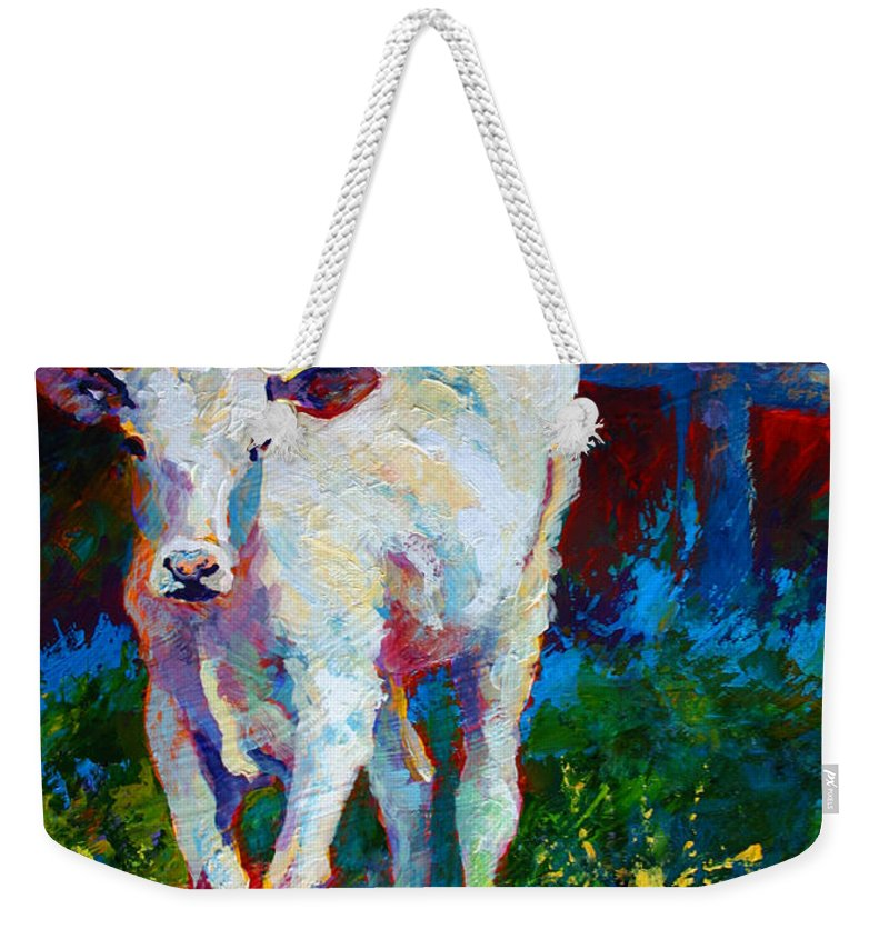 Western Weekender Tote Bag featuring the painting Like My Daddy by Marion Rose