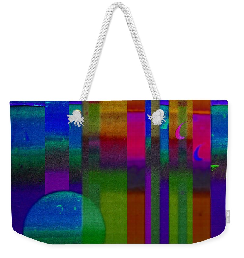Landscape Weekender Tote Bag featuring the painting Lilac Doors by Charles Stuart