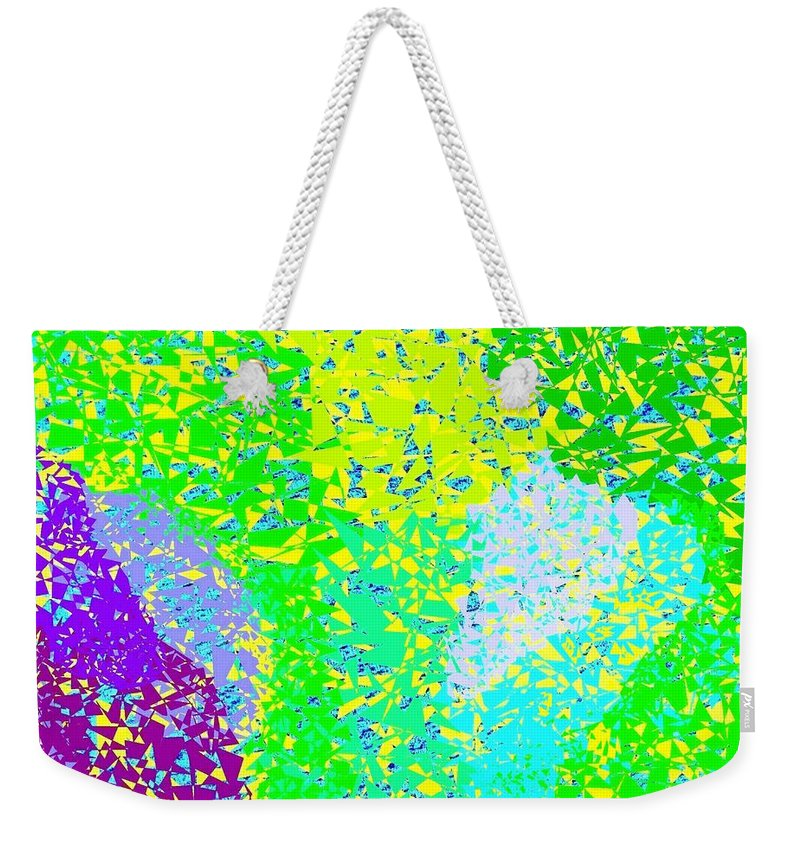 Abstract Weekender Tote Bag featuring the digital art Lilac Lane by Will Borden