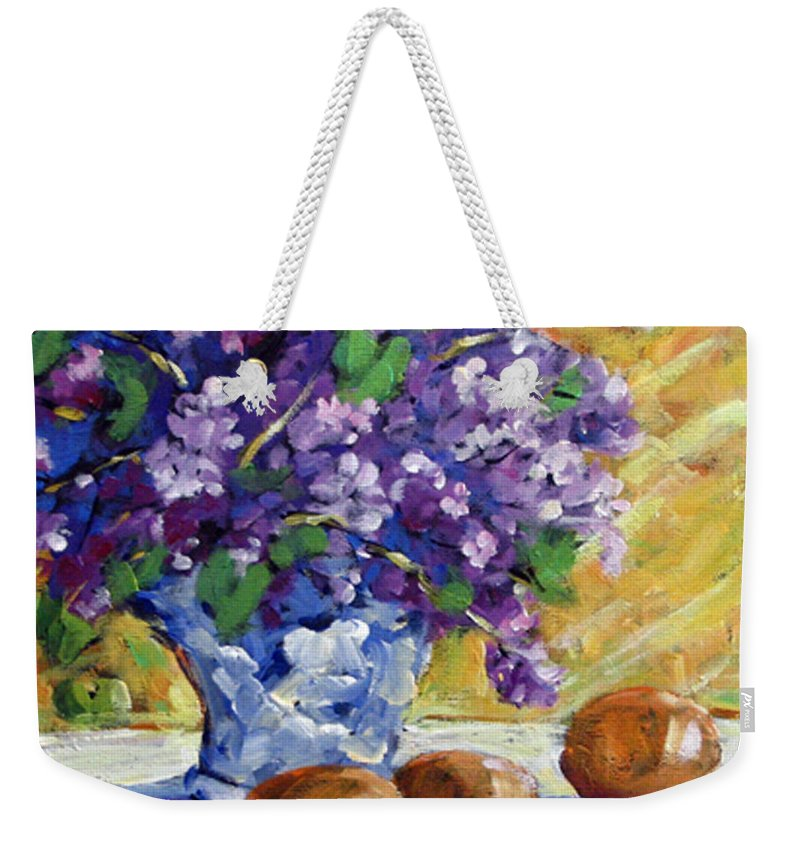 Art Weekender Tote Bag featuring the painting Lilac by Richard T Pranke