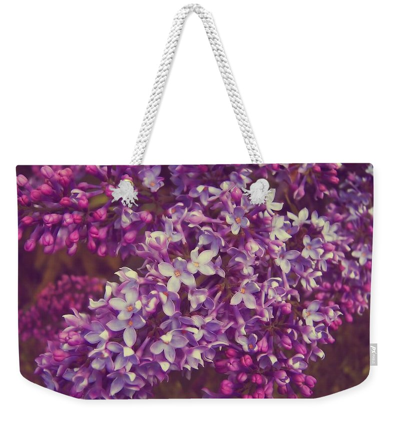 Lilac Weekender Tote Bag featuring the photograph Lilacs by JAMART Photography
