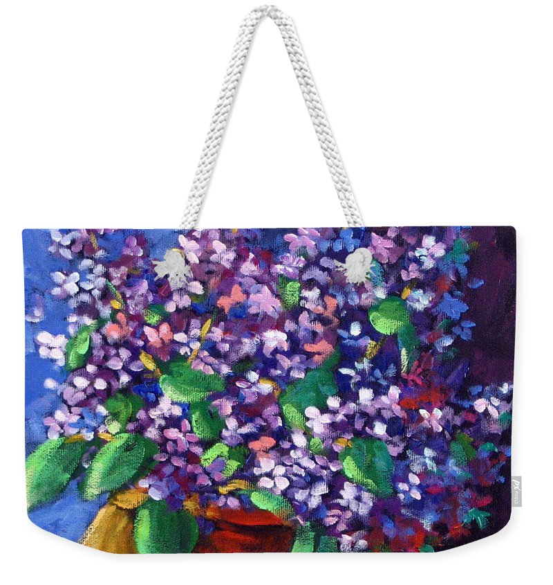 Art Weekender Tote Bag featuring the painting Lilacs by Richard T Pranke