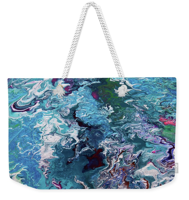 Fusionart Weekender Tote Bag featuring the painting Lilies by Ralph White