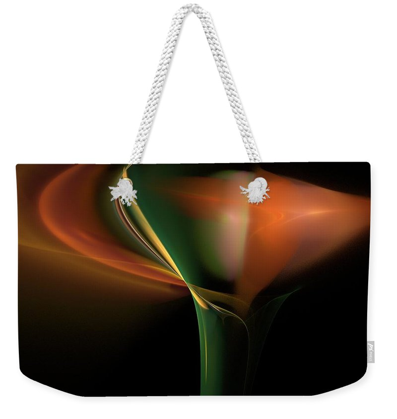 Digital Photography Weekender Tote Bag featuring the digital art Lilly Of Light by David Lane