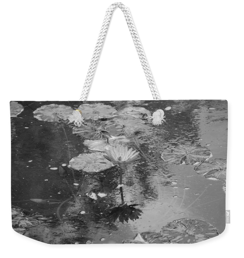 Lilly Pond Weekender Tote Bag featuring the photograph Lilly Pond by Rob Hans