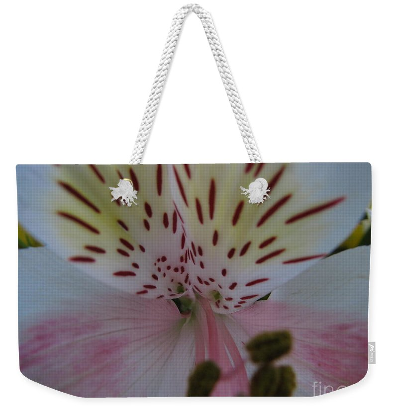 Patzer Weekender Tote Bag featuring the photograph Lily by Greg Patzer