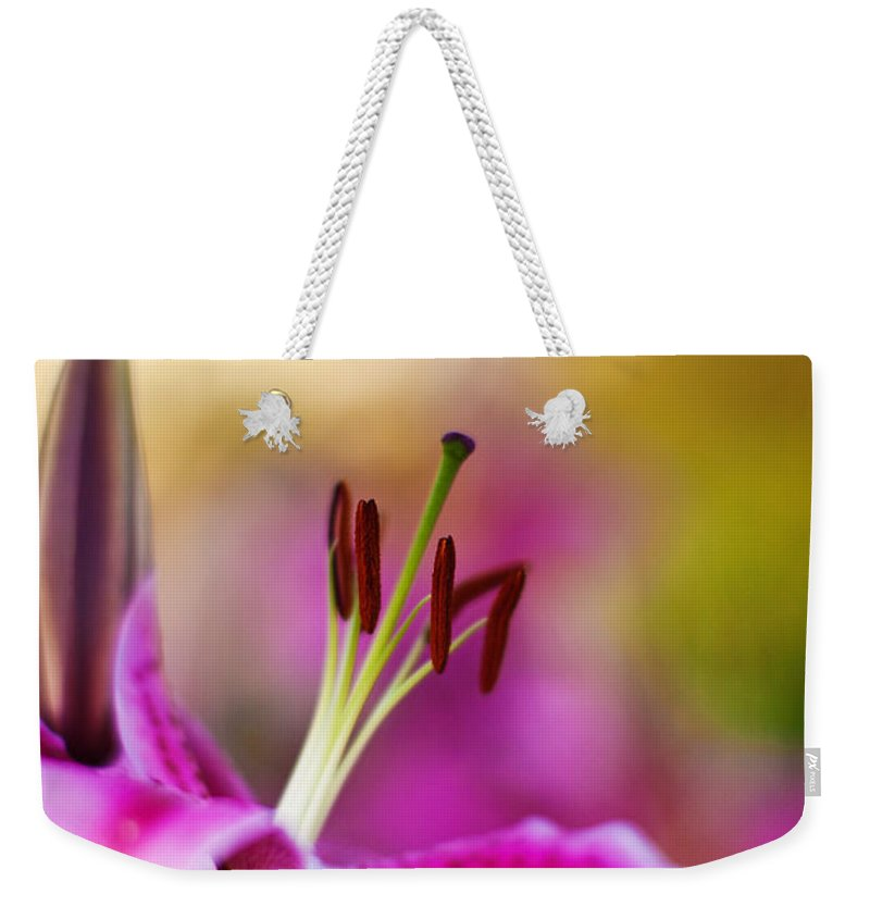 Lily Weekender Tote Bag featuring the photograph Lily Impression by Mike Reid