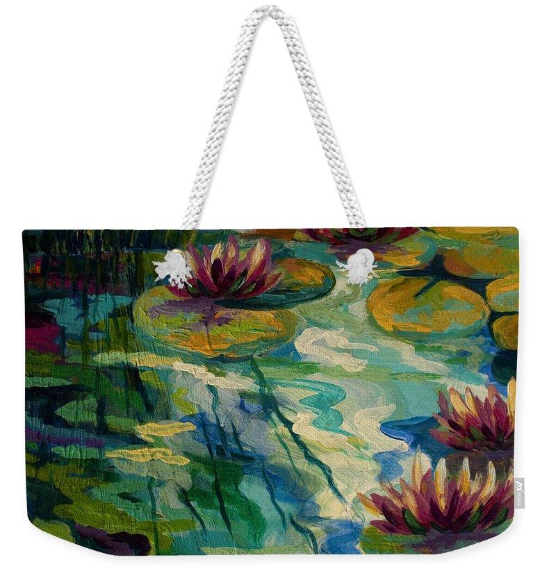 Pond Paintings Weekender Tote Bags