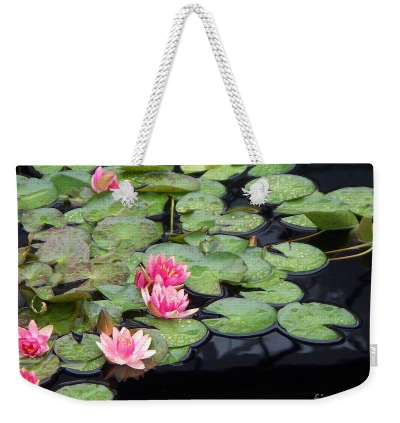 Photograph Weekender Tote Bag featuring the painting Lily Pond Monet by Eric Schiabor