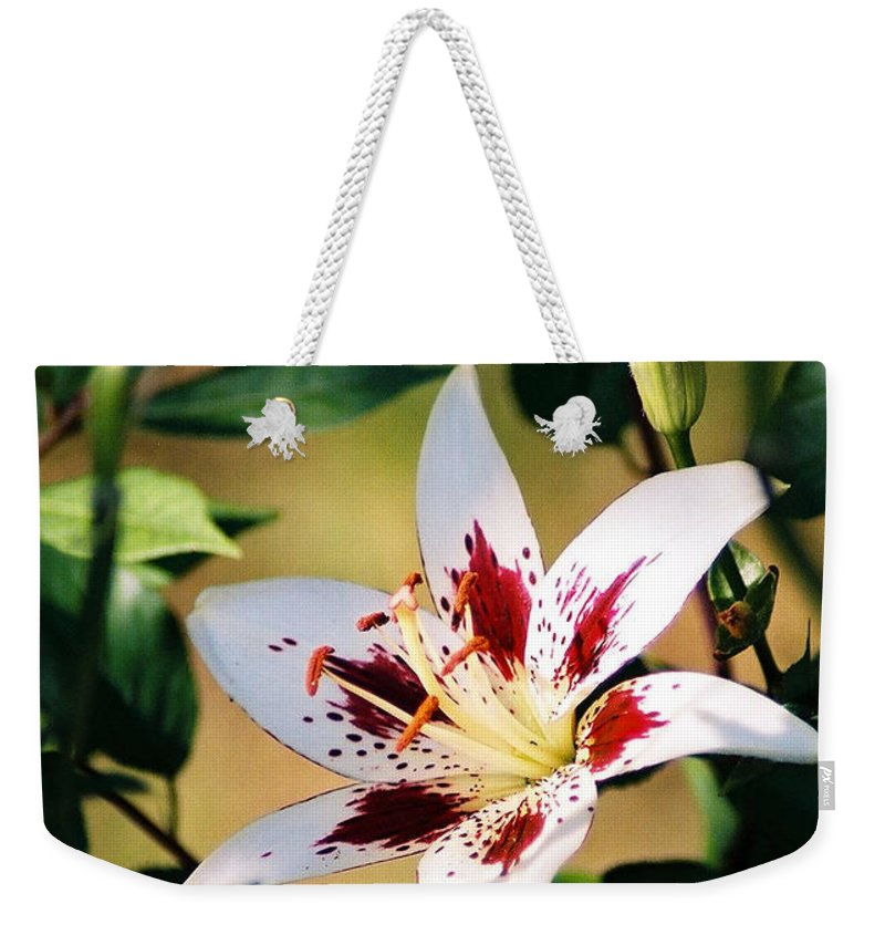 Flower Weekender Tote Bag featuring the photograph Lily by Steve Karol