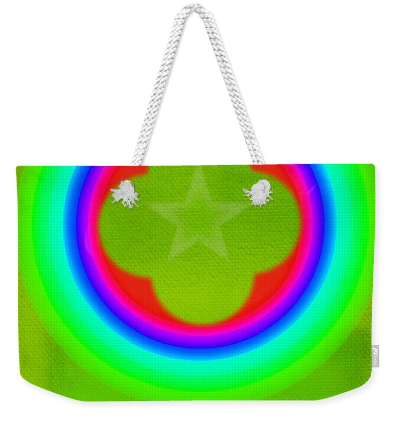 Abstract Weekender Tote Bag featuring the painting Lime by Charles Stuart