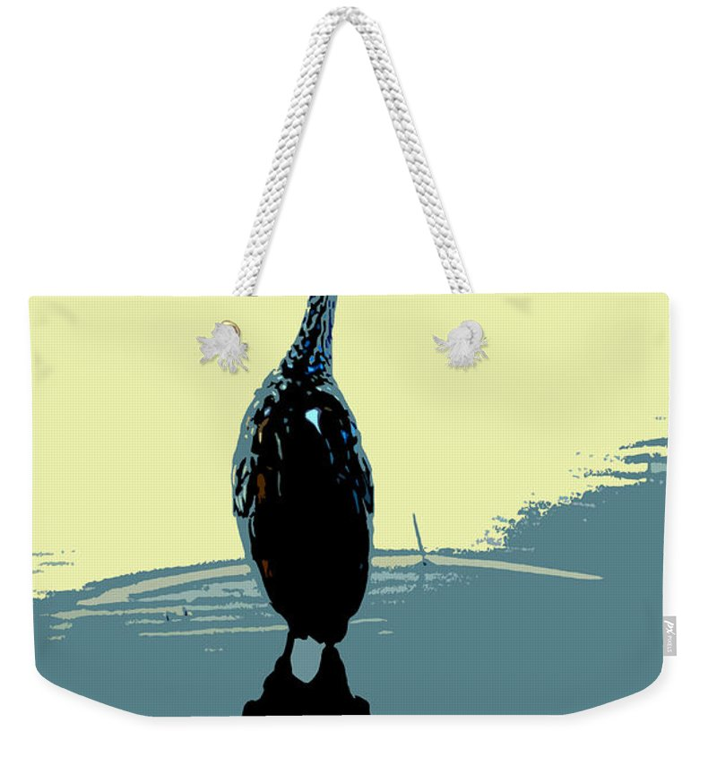Bird Weekender Tote Bag featuring the photograph Limp Kin In Color by David Lee Thompson