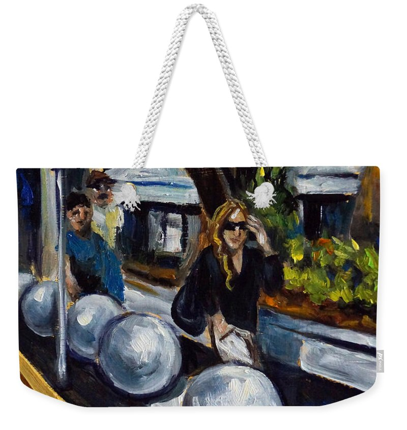 Shopping Weekender Tote Bag featuring the painting Lincoln Road by Valerie Vescovi