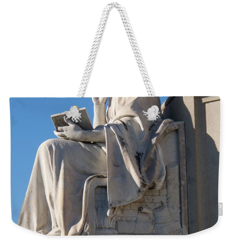 Lincoln Weekender Tote Bag featuring the painting lincoln statue Gettysburg PA by Eric Schiabor