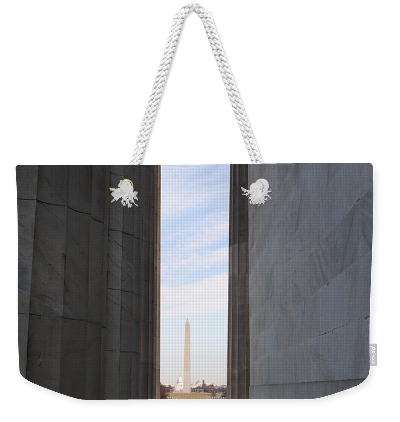 Lincoln Weekender Tote Bag featuring the photograph Lincoln's View by Jost Houk