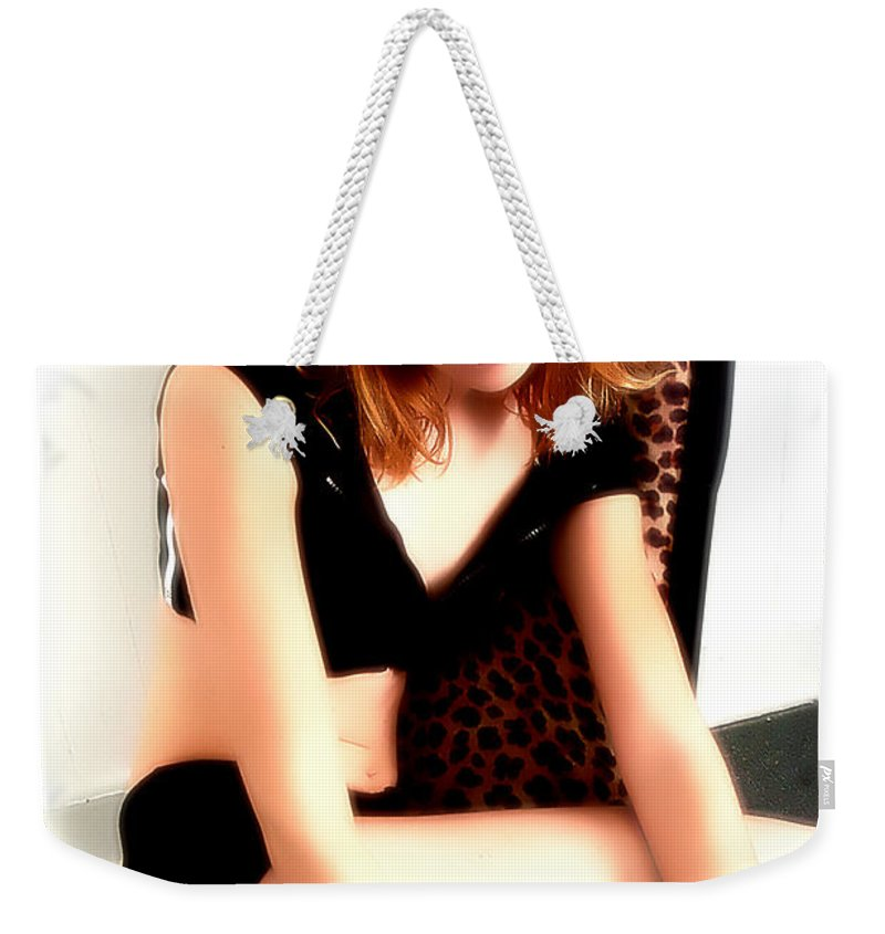 Clay Weekender Tote Bag featuring the photograph Lindsay by Clayton Bruster