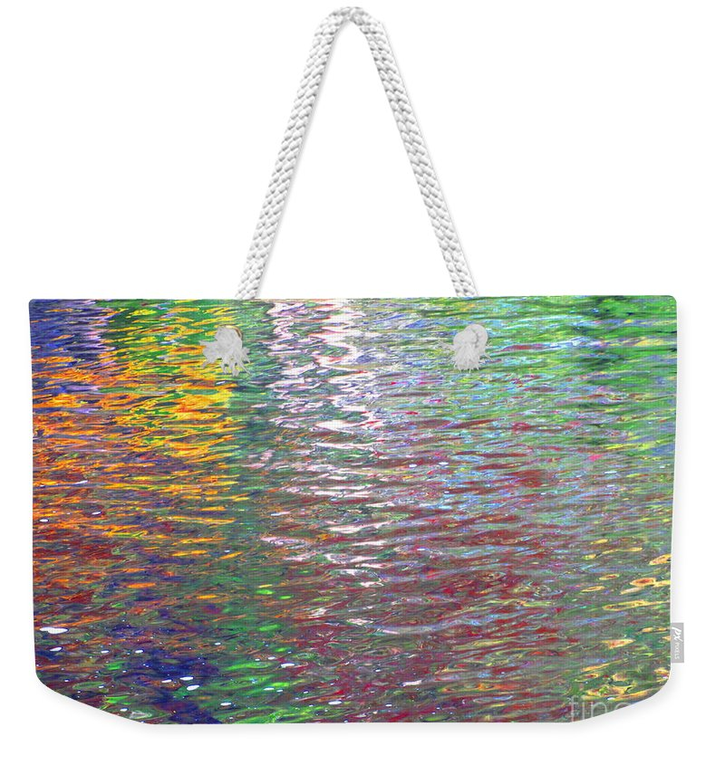 Water Art Weekender Tote Bag featuring the photograph Linearized Light by Sybil Staples