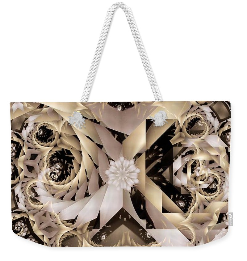 Abstract Weekender Tote Bag featuring the digital art Linen and Silk by Ron Bissett