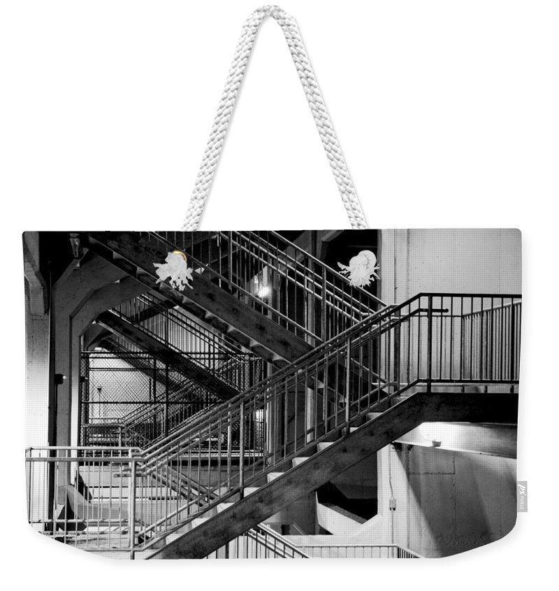 Stairs Weekender Tote Bag featuring the photograph Lines by Greg Fortier