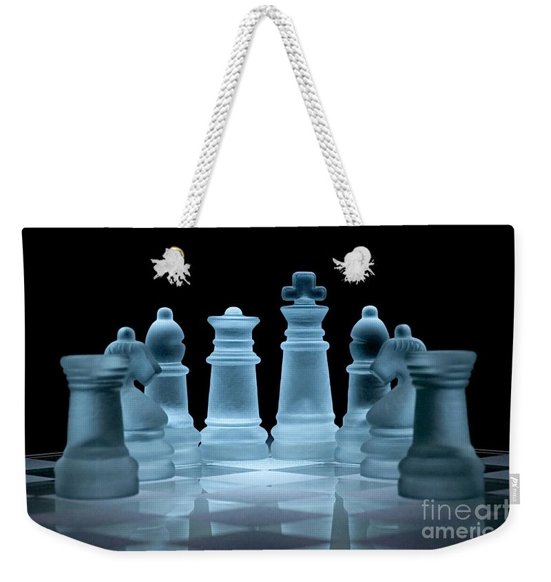 Chess Weekender Tote Bag featuring the photograph Lines Of Defence by Ann Garrett