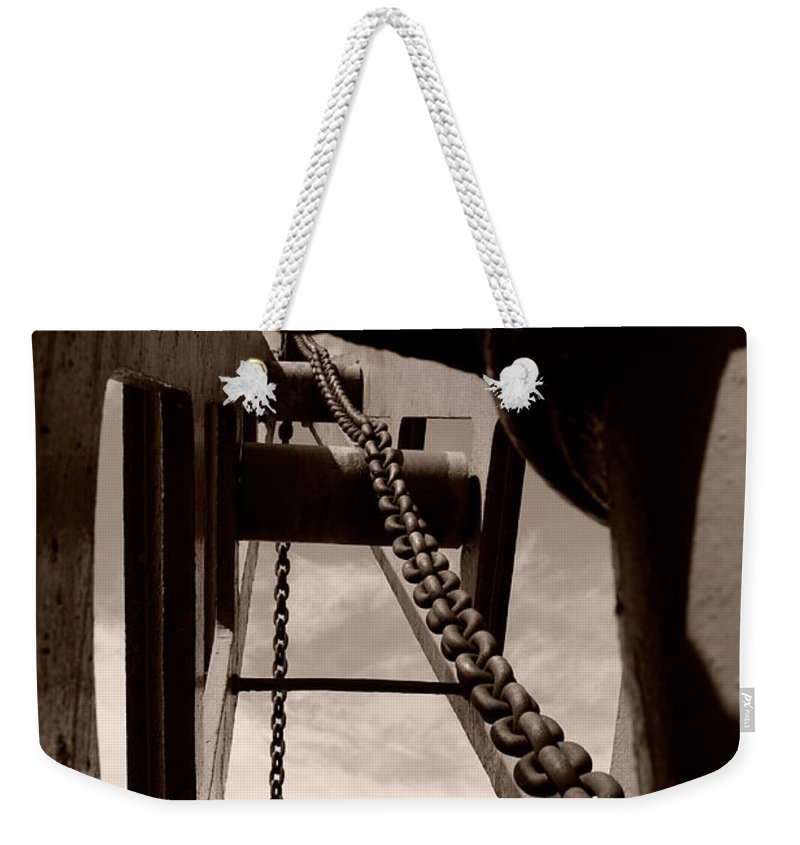 Crane Weekender Tote Bag featuring the photograph Link To The Jib by Brian Roscorla