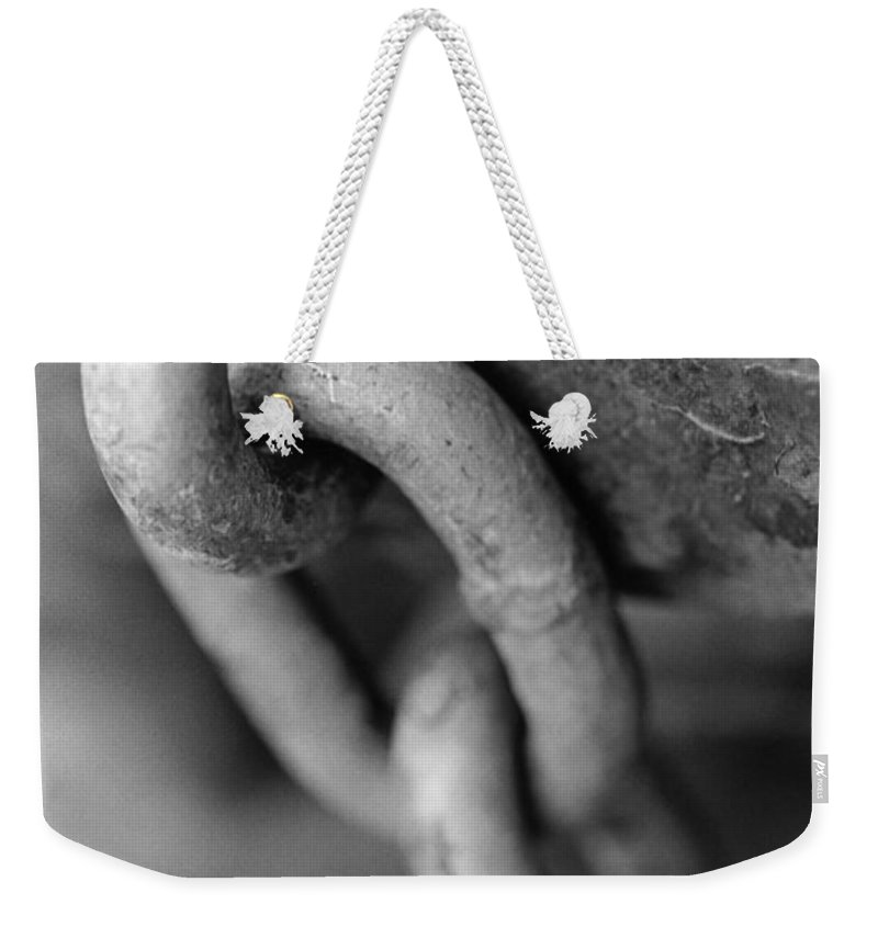 Chain Weekender Tote Bag featuring the photograph Linked by Jeffery Ball