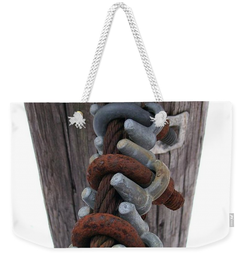 Cable Weekender Tote Bag featuring the photograph Linked by Sara Raber