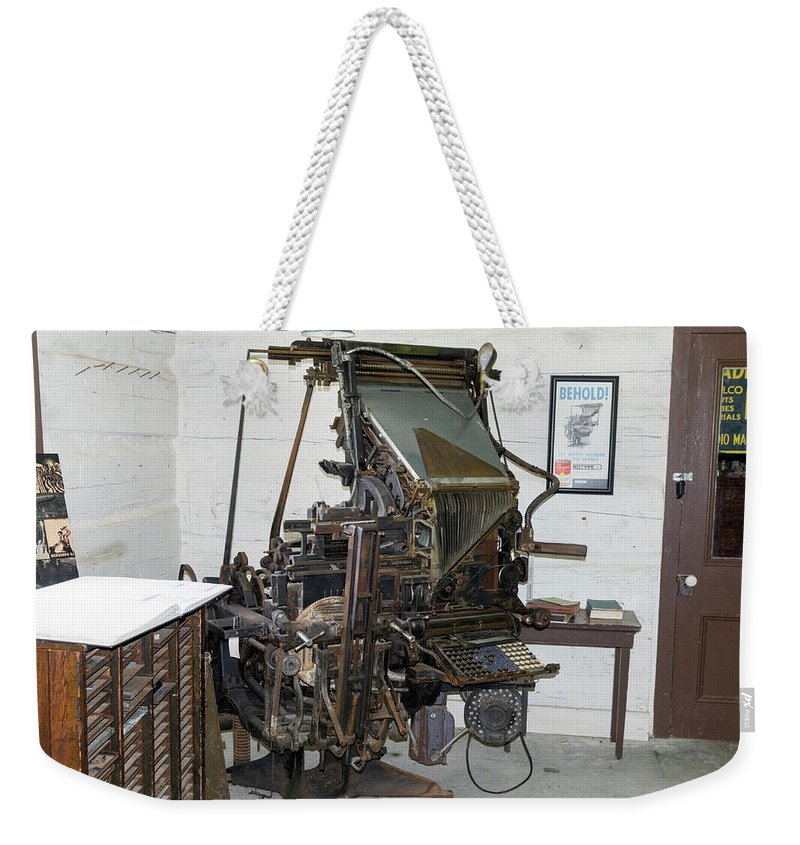 Linotype Machine Weekender Tote Bag