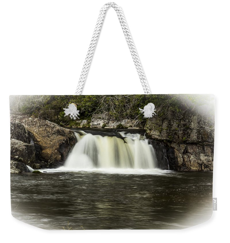 Waterfall Weekender Tote Bag featuring the photograph Linville Falls by Stephen Brown