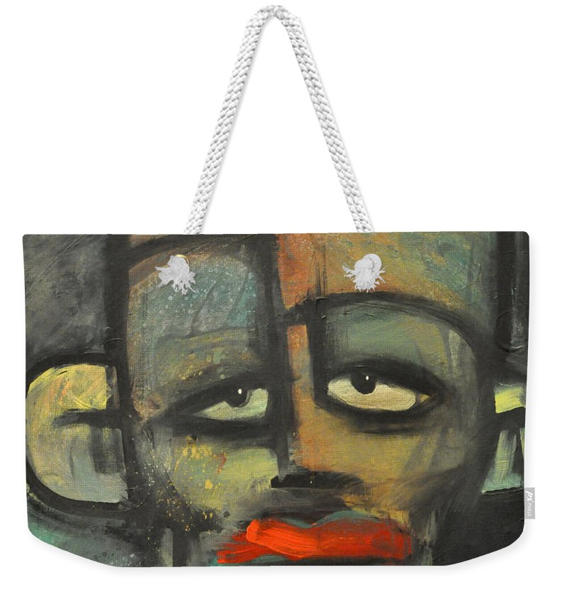Lipstick Weekender Tote Bag featuring the painting Lipstick by Tim Nyberg