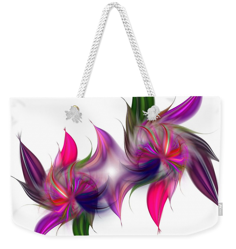 Abstract Weekender Tote Bag featuring the digital art Liquidity Of Math by Georgiana Romanovna