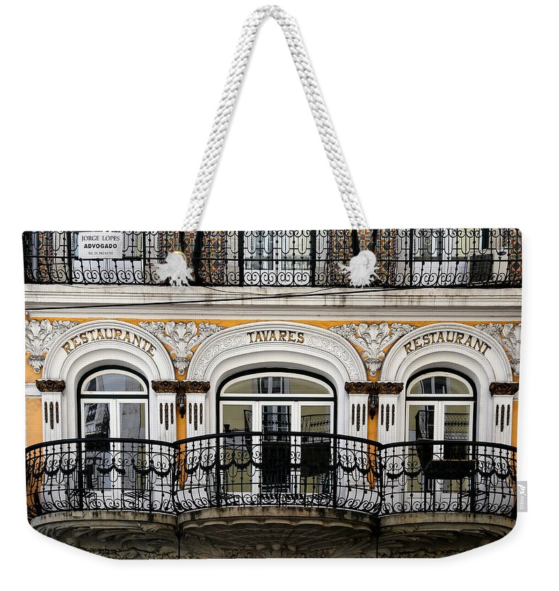Lisbon Weekender Tote Bag featuring the photograph Lisbon 16 by Andrew Fare