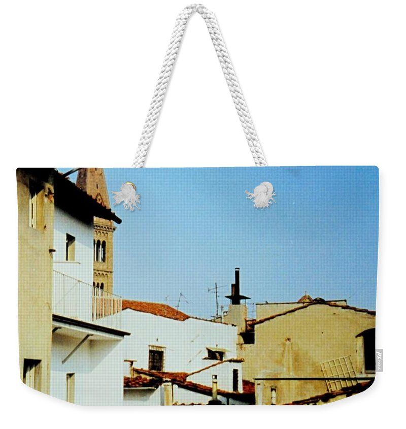 Lisbon Weekender Tote Bag featuring the photograph Lisbon Angles by Ian MacDonald