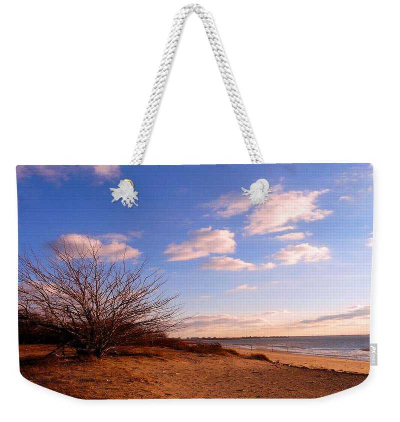 Landscape Weekender Tote Bag featuring the photograph Listen To The Quiet by Kendall Eutemey