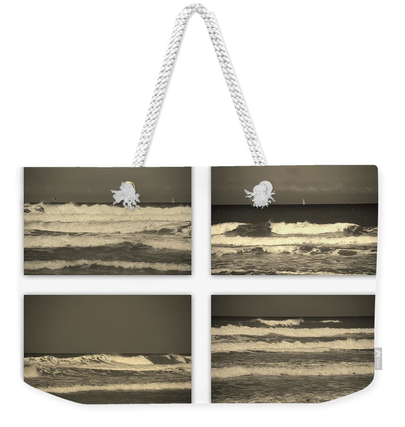 Waves Weekender Tote Bag featuring the photograph Listen To The Song Of The Ocean by Susanne Van Hulst