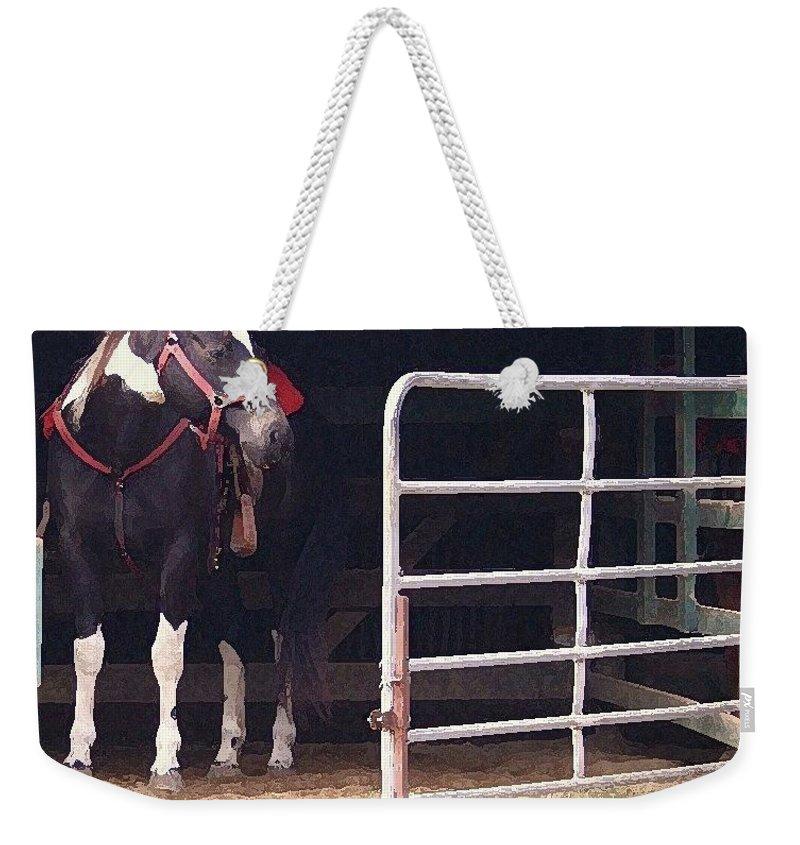 Horse Weekender Tote Bag featuring the digital art Listening For My Turn by Kim Henderson