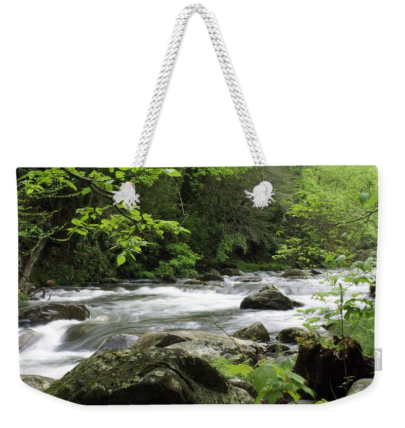 River Weekender Tote Bag featuring the photograph Litltle River 1 by Marty Koch