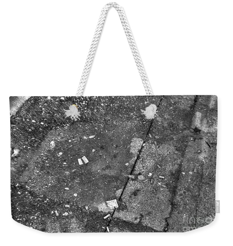 High Dynamic Range Weekender Tote Bag featuring the photograph Littered Way by Dorothy Hilde