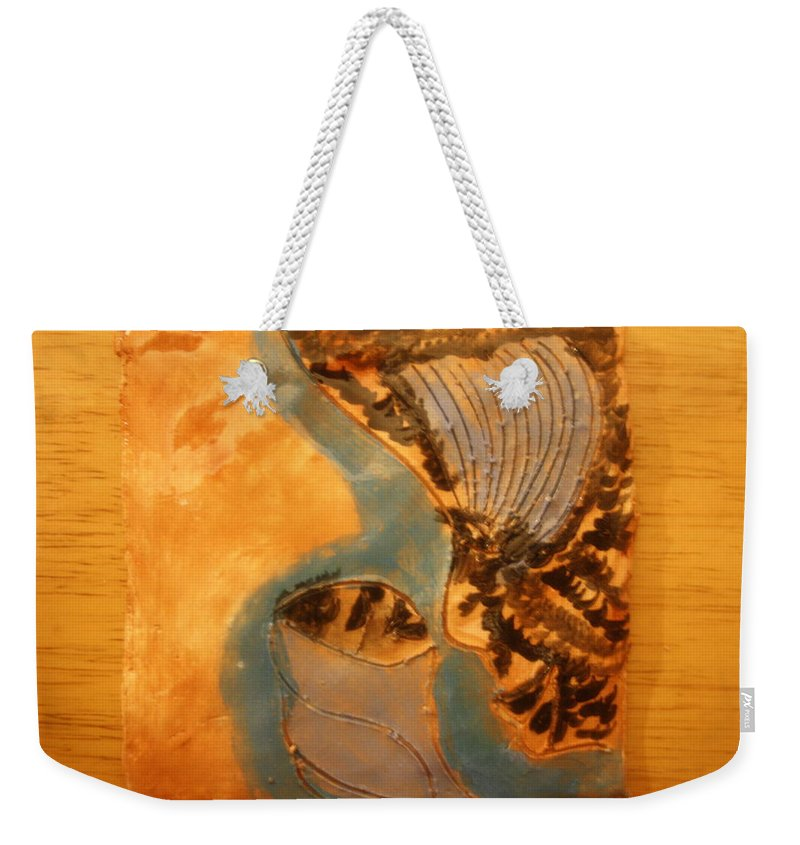 Jesus Weekender Tote Bag featuring the ceramic art Little Angel - Tile by Gloria Ssali