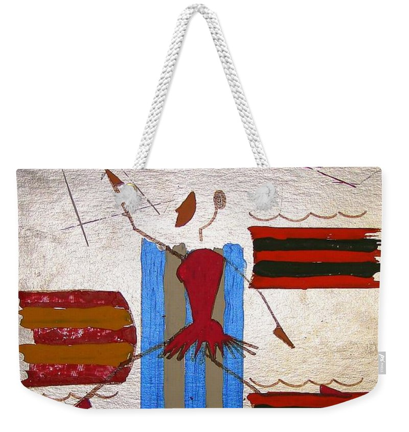 Ballerina Weekender Tote Bag featuring the mixed media Little Ballerina by J R Seymour