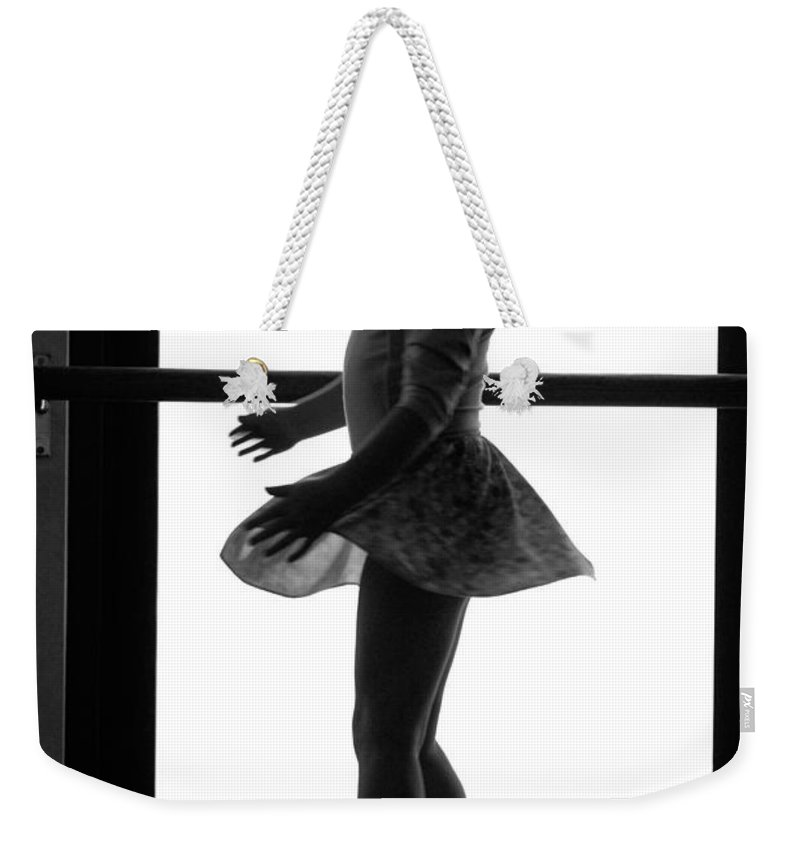 Girl Weekender Tote Bag featuring the photograph Little Ballerina by Jill Reger