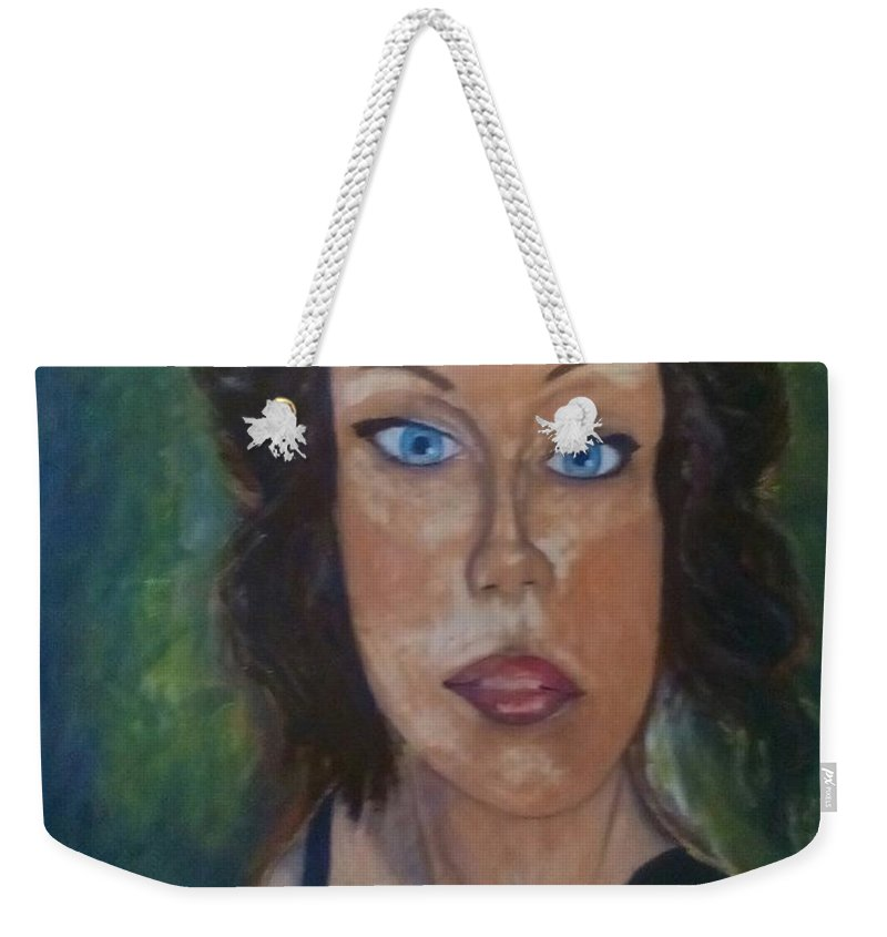 Little Black Dress Weekender Tote Bag featuring the painting Little Black Dress by J Bauer