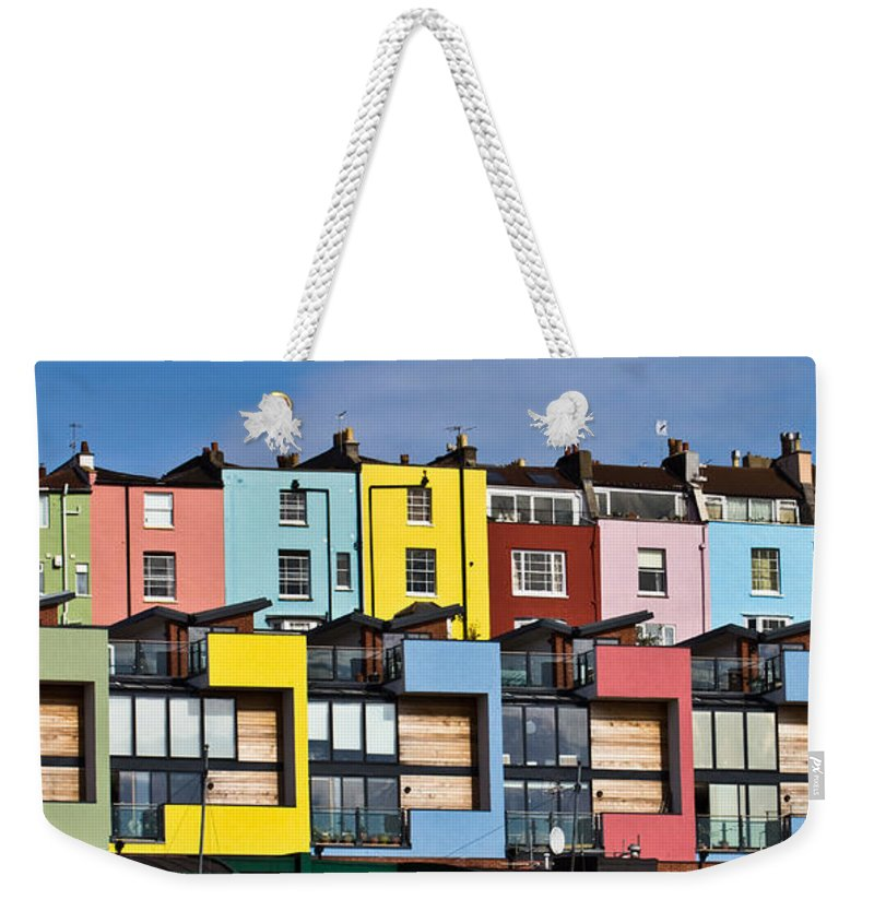 Bristol Weekender Tote Bag featuring the photograph Little Boxes by Brian Roscorla