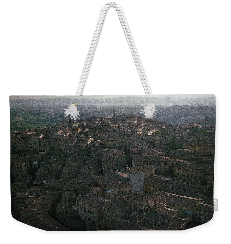 Canvas Prints Weekender Tote Bag featuring the photograph Little Brick Houses by Maria Reverberi