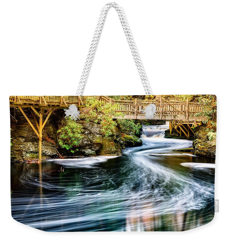 America Weekender Tote Bag featuring the photograph Little Bushkill Creek by Mihai Andritoiu