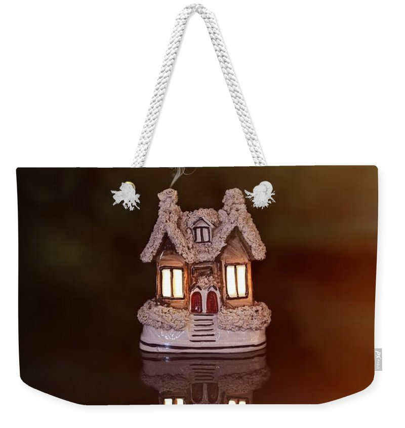 Little Weekender Tote Bag featuring the photograph Little Ceramic House by Amanda Elwell