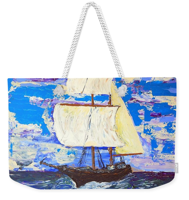 Impressionist Painting Weekender Tote Bag featuring the painting Little Clipper by J R Seymour